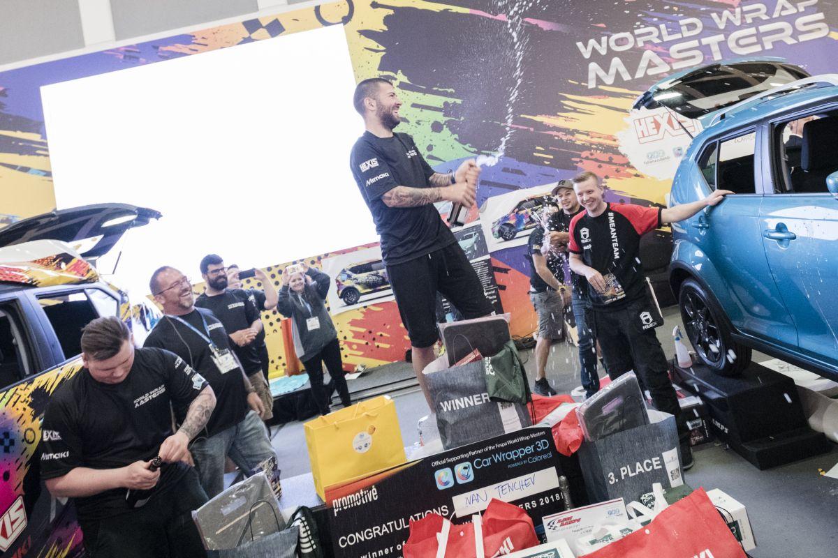 Le vainqueur du concours de covering de Fespa : World Wrap Masters