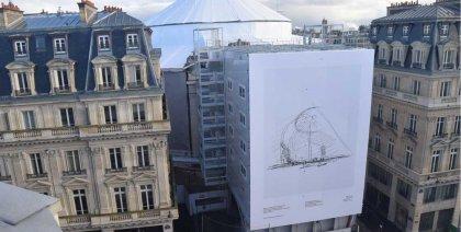 Façade XXL de la Fondation Pinault